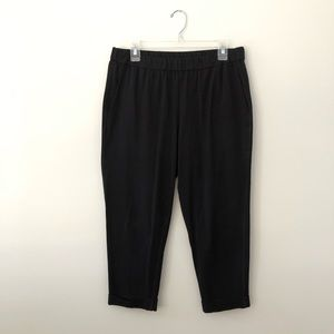Eileen Fisher organic ankle pants cuffed stretch M